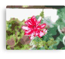 8 bit tongue flower Metal Print