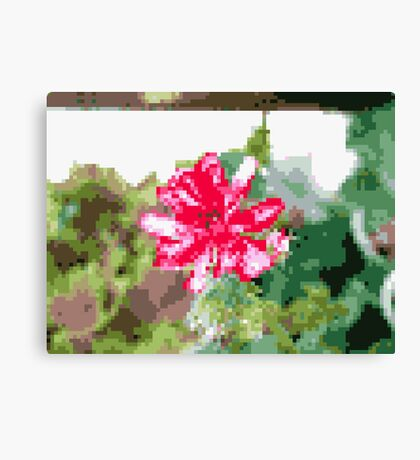 8 bit tongue flower Canvas Print
