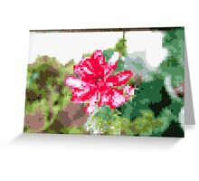 8 bit tongue flower Greeting Card