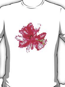 8 bit tongue flower T-Shirt