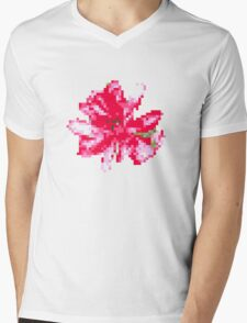 8 bit tongue flower Mens V-Neck T-Shirt