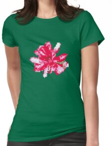 8 bit tongue flower Womens Fitted T-Shirt