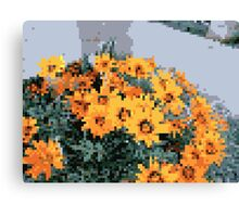 8bit orange things Canvas Print
