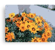 8bit orange things Canvas Print