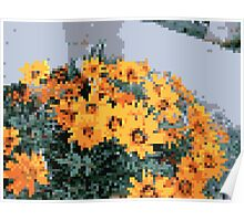 8bit orange things Poster