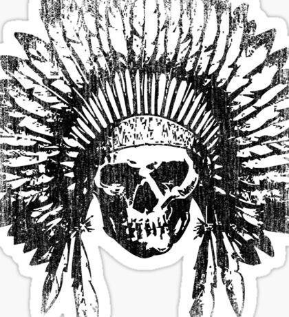 Vintage Chief Skull Design Sticker