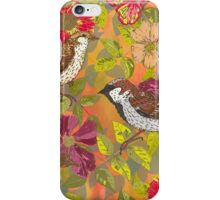 Sweet Sparrows and Briar Rose iPhone Case/Skin
