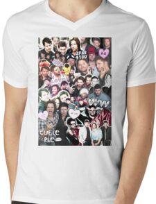 Supernatural Collage Mens V-Neck T-Shirt