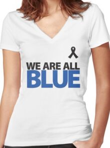 We Are All BLUE Women's Fitted V-Neck T-Shirt