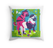Secrets of the Dog Park Throw Pillow