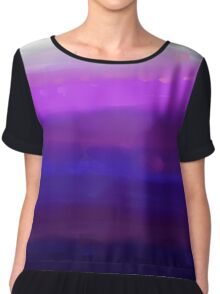 Water Brushed Orchid Chiffon Top