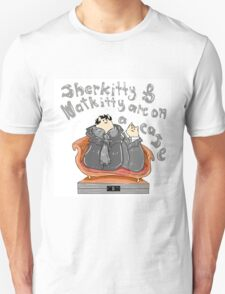 Sherkitty and Watkitty are on a case! Unisex T-Shirt