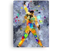 Freddie Grunge Canvas Print