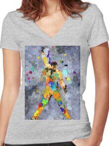 Freddie Grunge Women's Fitted V-Neck T-Shirt