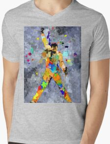 Freddie Grunge Mens V-Neck T-Shirt
