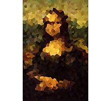 Pixelated Mona Lisa Photographic Print
