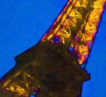 Eiffel Tower at Twilight Digital Photo Art Sticker