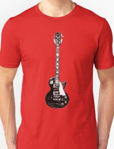 Black Guitar  Unisex T-Shirt