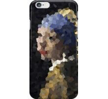 Pixelated Girl with a Pearl Earring iPhone Case/Skin