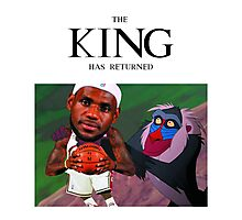Lebron James - The king has returned  Photographic Print
