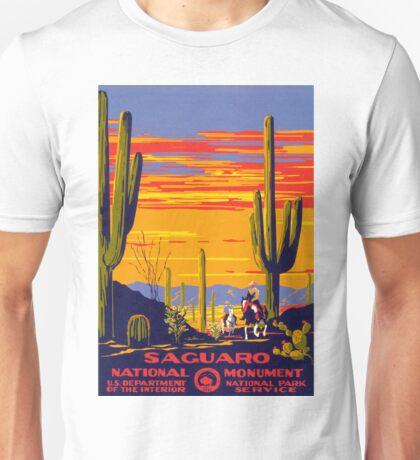 Saguaro National Park Vintage Travel Poster Unisex T-Shirt