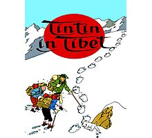 Tintin in Tibet Cover Print Photographic Print
