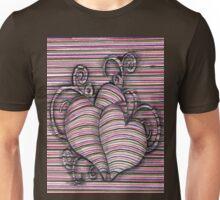 Heart 3d style line Unisex T-Shirt