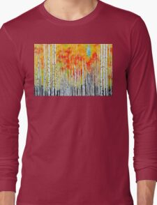 Autumn Aspen Trees Quaking Colorado Colorful Forest Long Sleeve T-Shirt