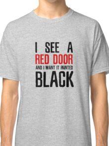 Paint It Black The Rolling Stones Lyrics Classic T-Shirt