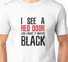Paint It Black The Rolling Stones Lyrics Unisex T-Shirt