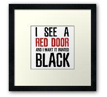 Paint It Black The Rolling Stones Lyrics Framed Print