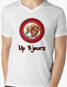 Up Bjours Mens V-Neck T-Shirt