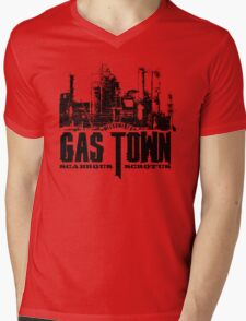 Gas Town Mens V-Neck T-Shirt