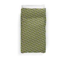 Nouveau Eye Checkerboard Olive Duvet Cover