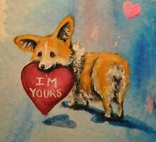 Pembroke Welsh Corgi~dog~I'm Yours~Valentine~LOVE by shinerdog
