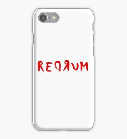 Redrum The Shining Quote Stanley Kubrick Horror iPhone Case/Skin