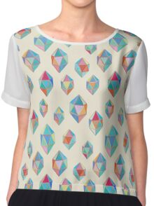 Floating Gems - a pattern of painted polygonal shapes Chiffon Top