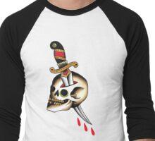 Traditional Skull and Dagger Men's Baseball ¾ T-Shirt