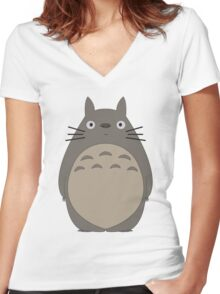 Studio Ghibli - Totoro Women's Fitted V-Neck T-Shirt