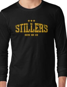 STILLERS DISTRESSED (gold) Long Sleeve T-Shirt