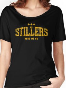 STILLERS DISTRESSED (gold) Women's Relaxed Fit T-Shirt
