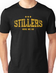 STILLERS DISTRESSED (gold) Unisex T-Shirt