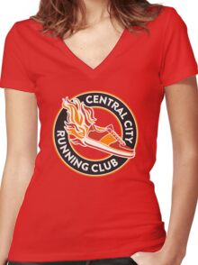 Central City Running Club Women's Fitted V-Neck T-Shirt