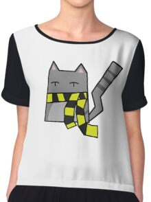 Hufflepuff Kitty Chiffon Top
