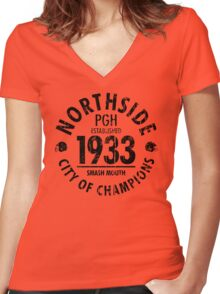 NORTHSIDE 1933 (black) Women's Fitted V-Neck T-Shirt