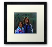 Person of Interest X-Files AU Framed Print