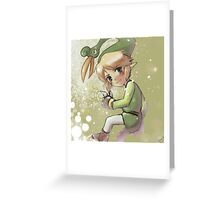 Link, The Legend of Zelda, The Minish Cap Greeting Card