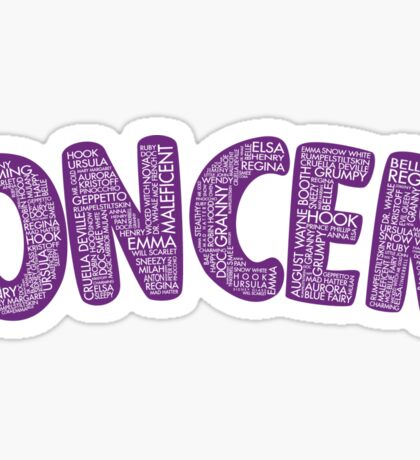Once Upon a Time - Oncer 2015 - Purple Sticker