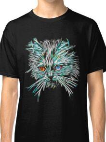Odd-Eyed White Glowing Cat Classic T-Shirt