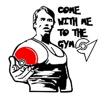"""Come With Me To The Gym"" Arnold Pokemon  Photographic Print"